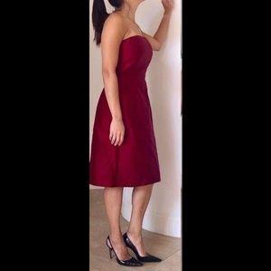 Ann Taylor Dupioni Silk Strapless Dress 10